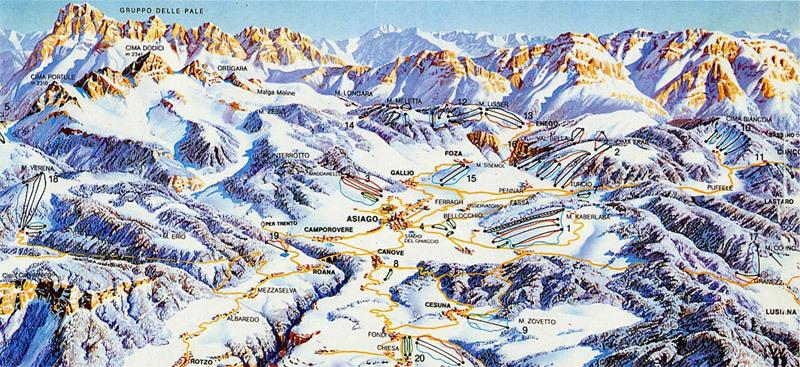 Asiago Piste / Trail Map