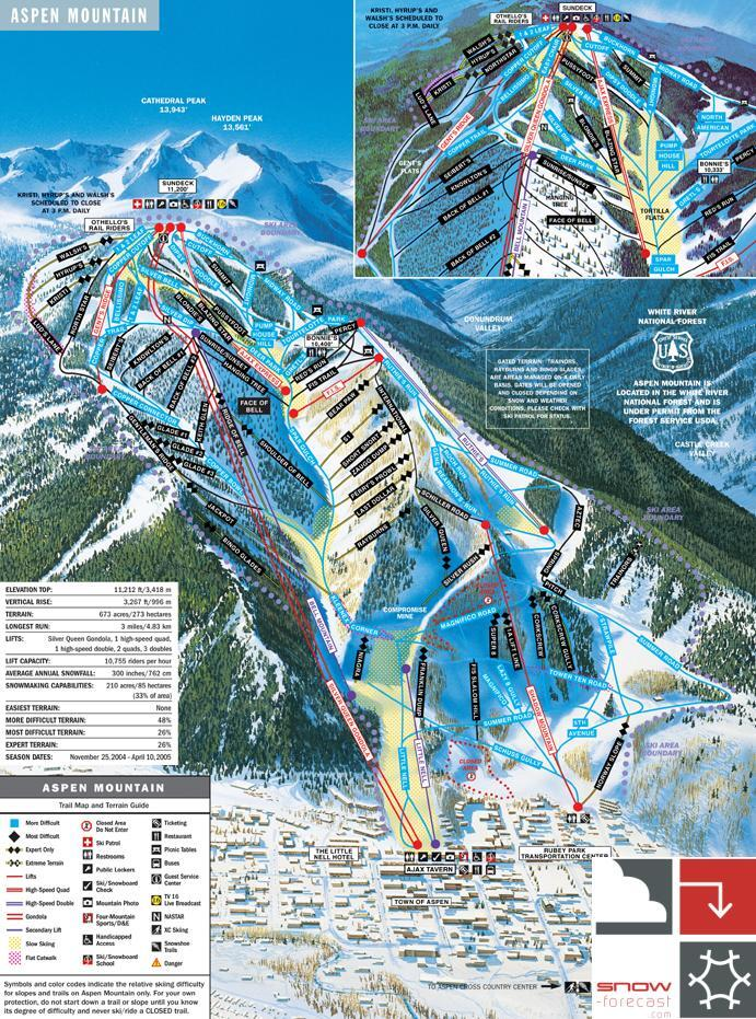 Aspen Piste / Trail Map