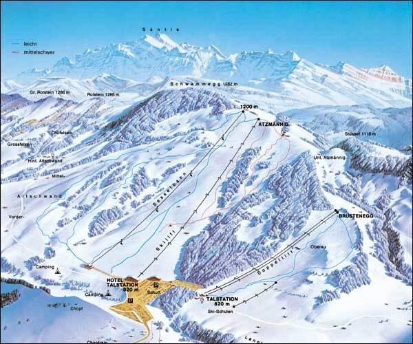 Atzmännig Goldingen Piste / Trail Map