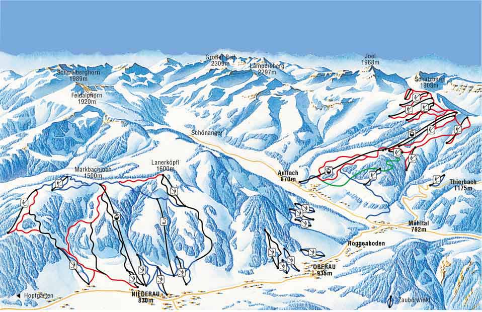 Auffach Piste / Trail Map