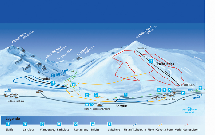 Avers Piste / Trail Map