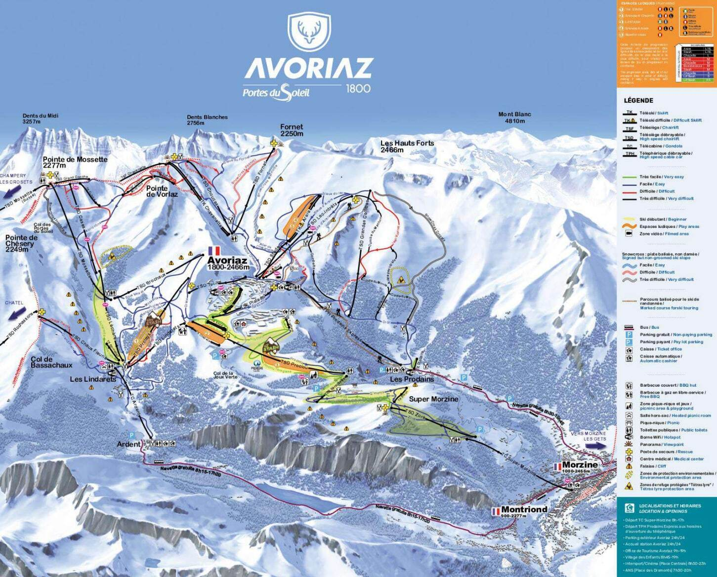 Avoriaz Piste Map Trail Map