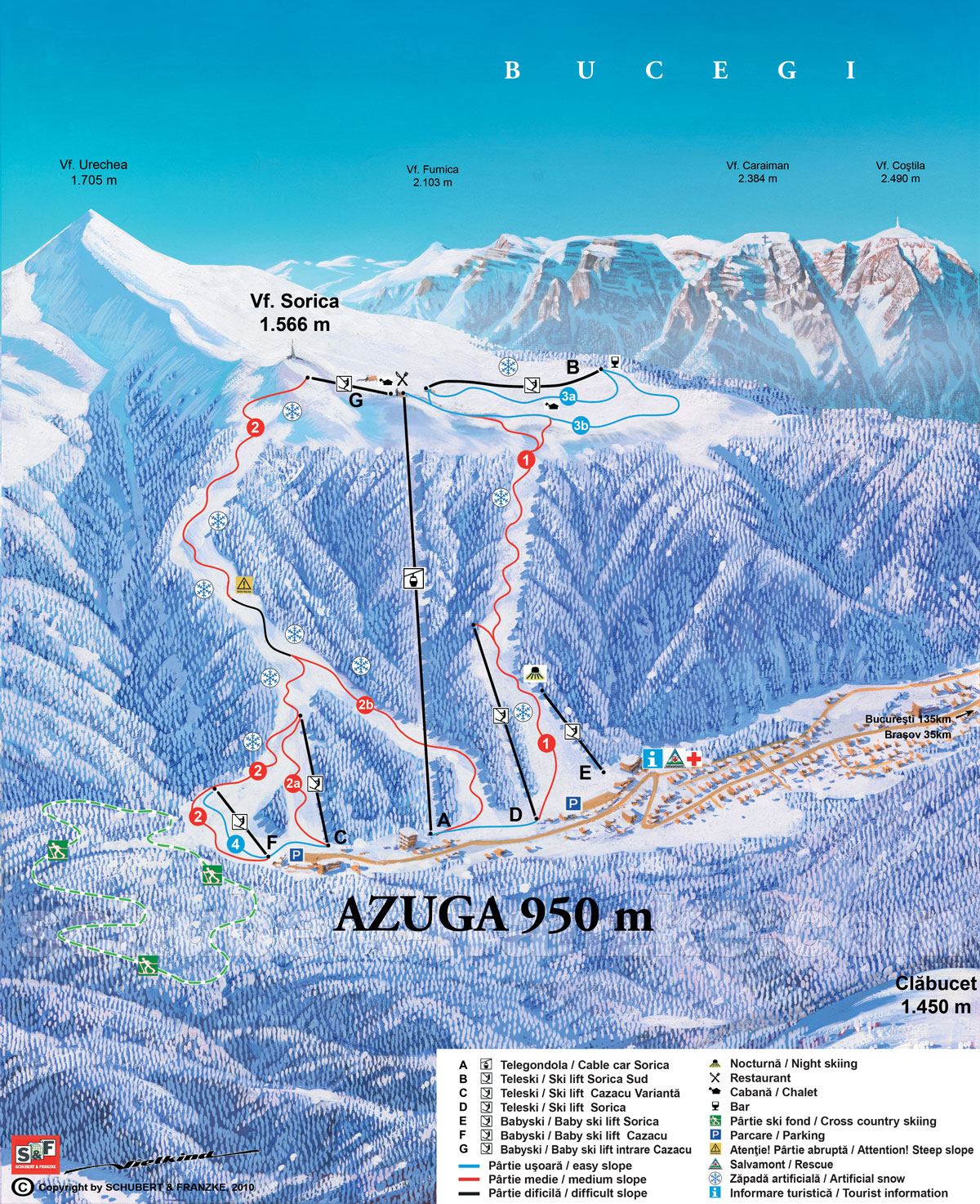 Azuga Piste / Trail Map