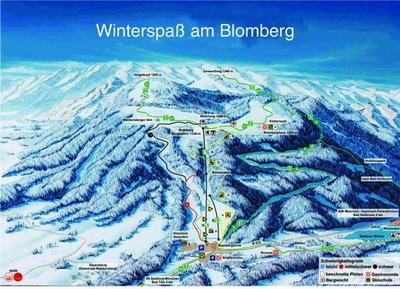 Bad Tölz/Blomberg Piste / Trail Map