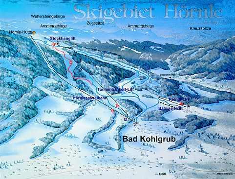Bad Kohlgrub Piste / Trail Map