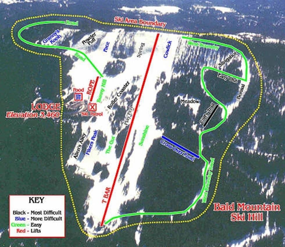 Bald Mountain Piste / Trail Map