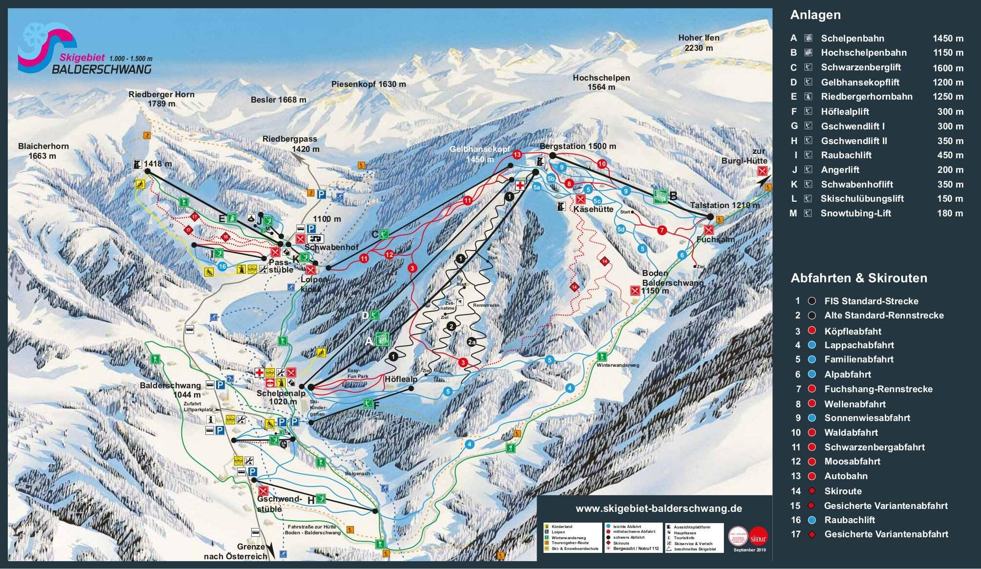 Balderschwang Piste / Trail Map