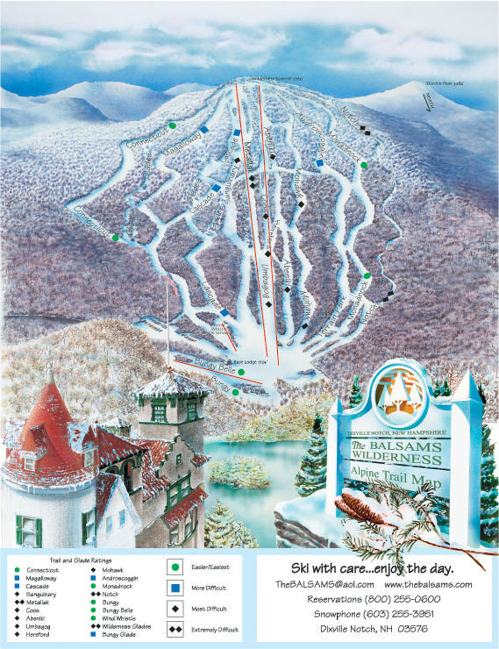 Balsams Wilderness Piste / Trail Map