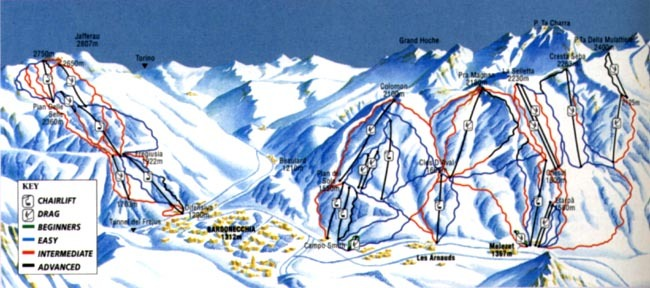 Bardonecchia Piste Map Trail Map