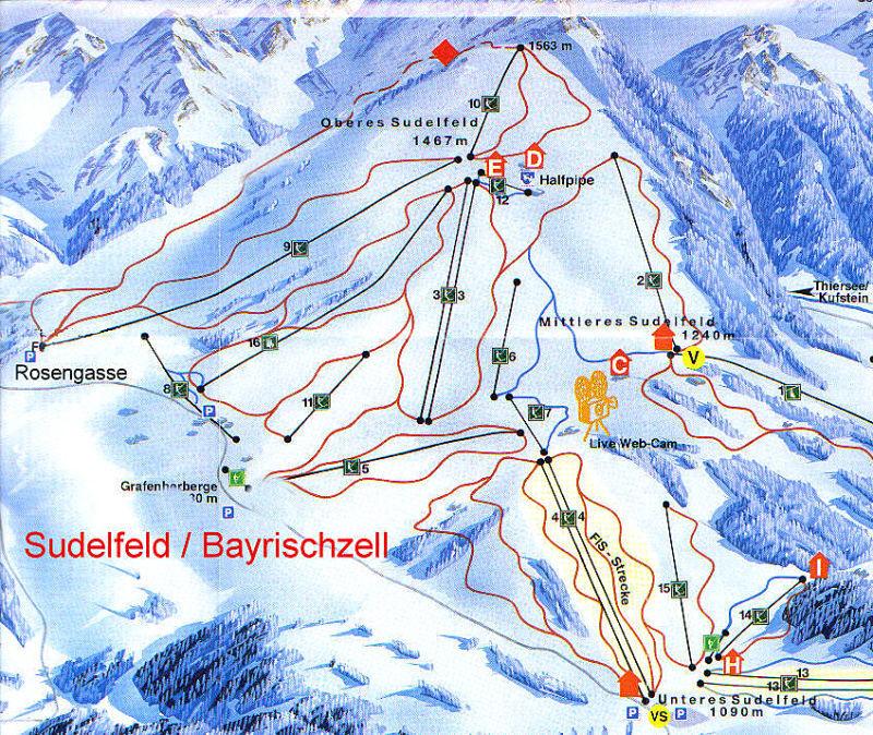Bayrischzell-Brannenburg/Wendelstein Piste / Trail Map