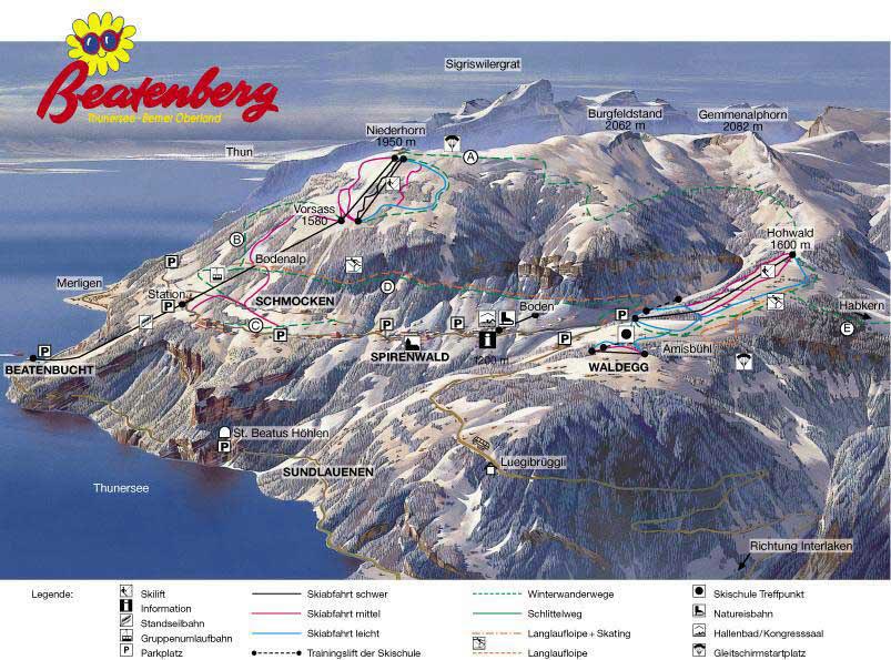 Beatenberg Piste / Trail Map