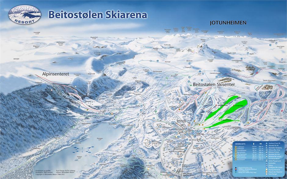 Beitostølen Piste / Trail Map