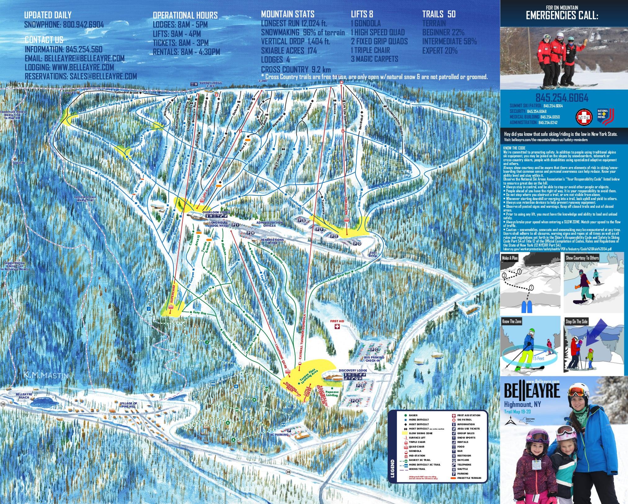 Belleayre Piste / Trail Map
