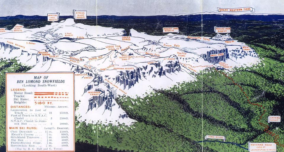 Ben Lomond Piste / Trail Map
