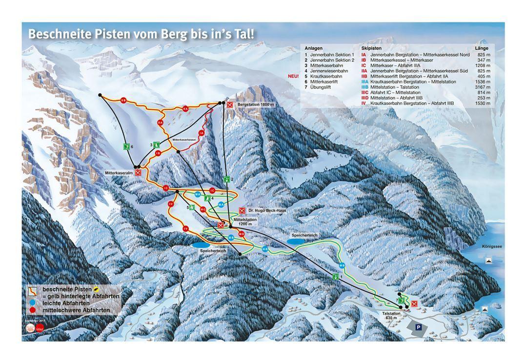 Berchtesgaden Piste / Trail Map