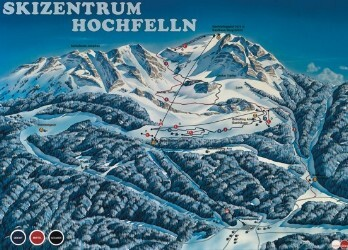 Bergen-Chiemgau/Inntal/Hochfelln Piste / Trail Map