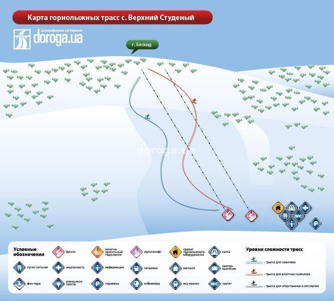 Beskyd Piste / Trail Map