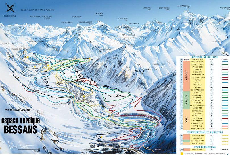 Bessans Val D'Arc Piste / Trail Map