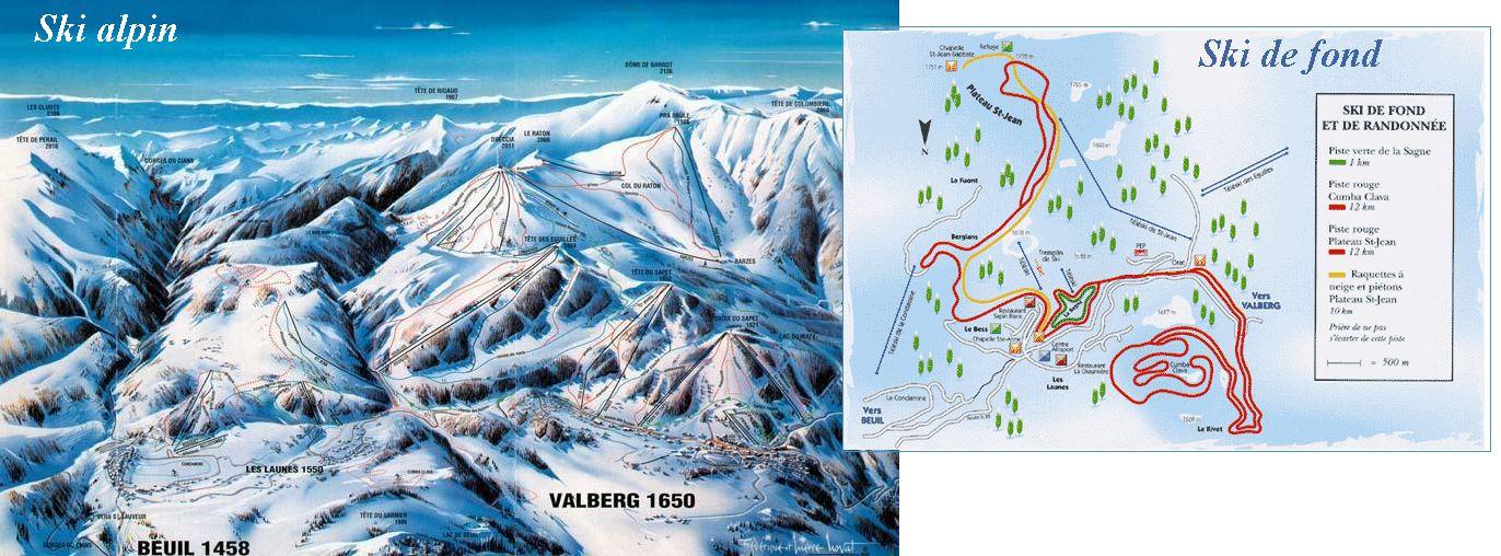 Beuil Les Launes Piste / Trail Map