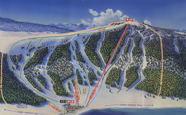 Big Horn Ski Resort Piste / Trail Map