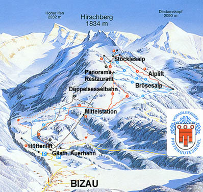 Bizau Piste / Trail Map