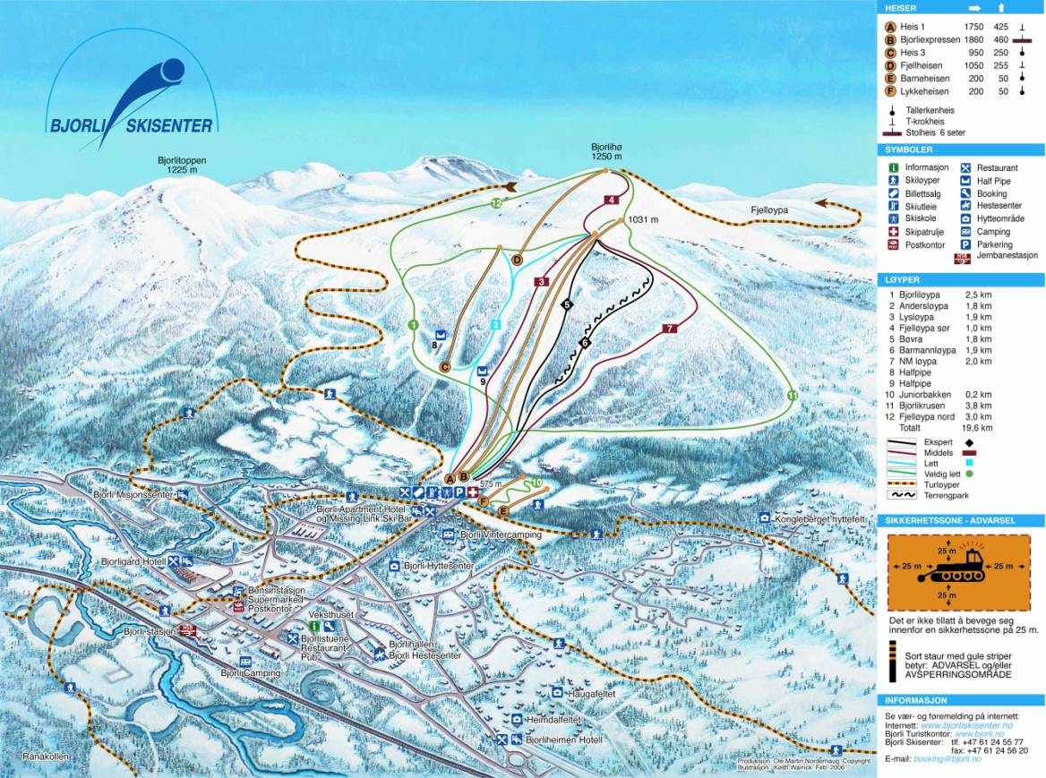 Bjorli Piste / Trail Map