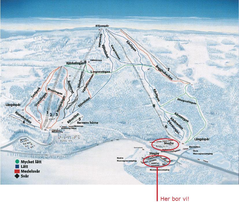 Bjursås Piste / Trail Map