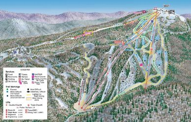 Blue Knob Piste / Trail Map