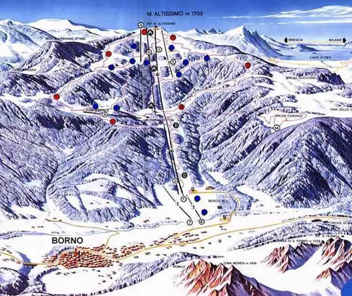 Borno Piste / Trail Map