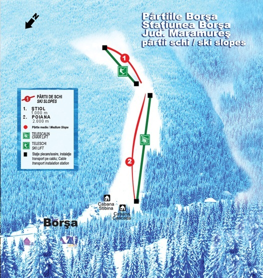 Borşa Piste / Trail Map