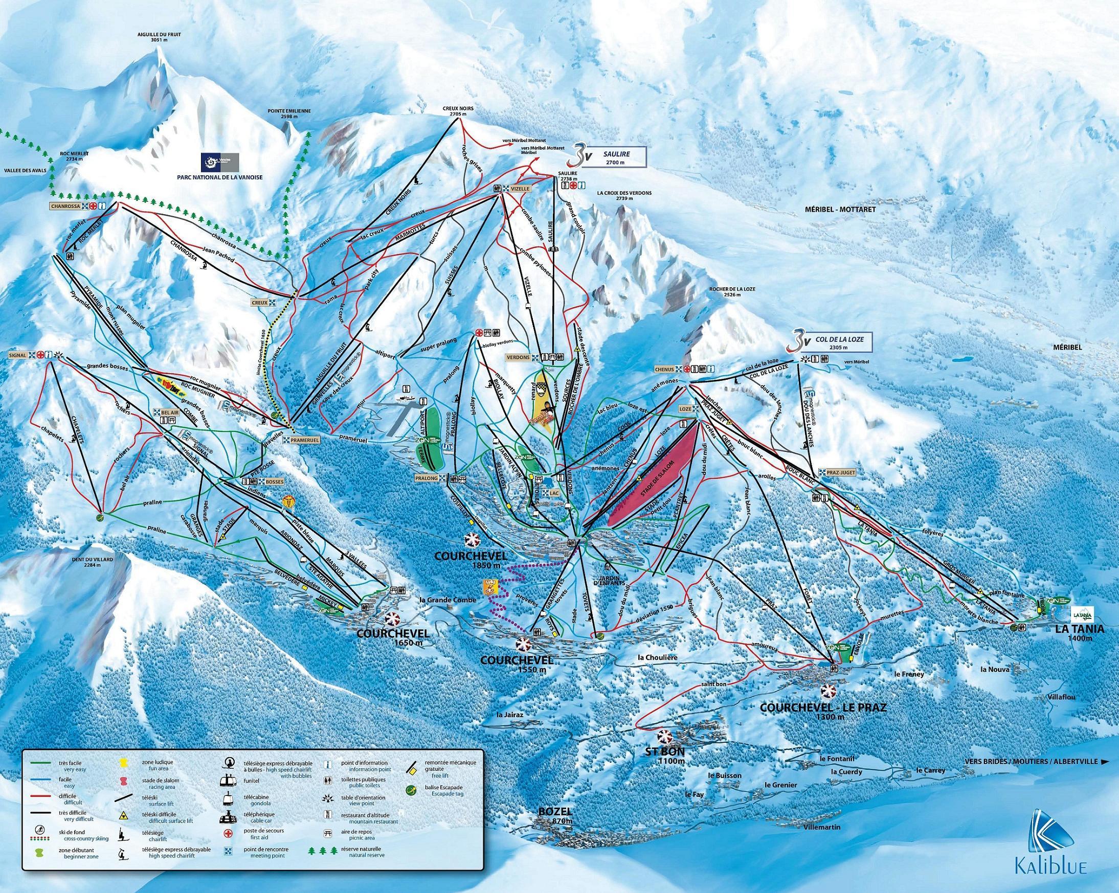 Bozel Piste / Trail Map