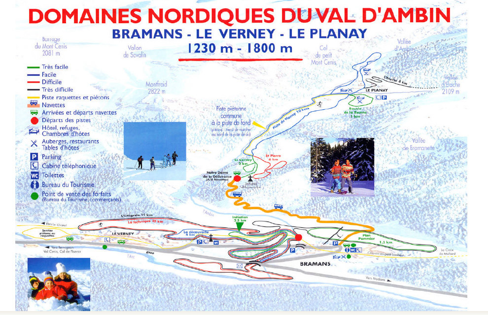 Bramans Piste / Trail Map