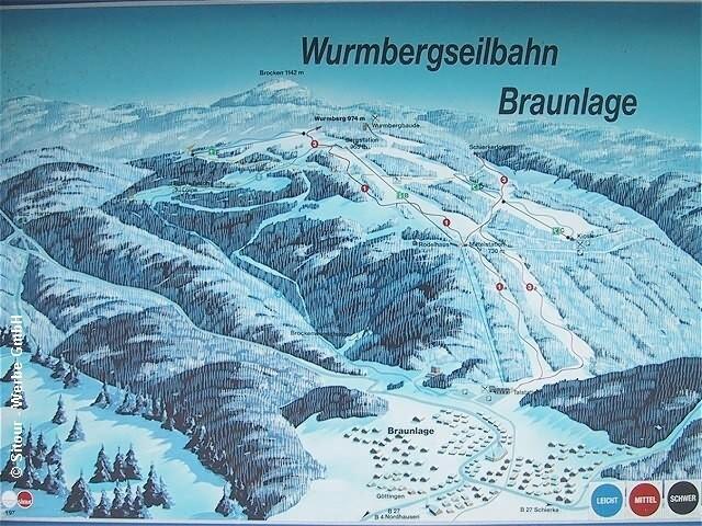 Braunlage Wurmberg Piste / Trail Map