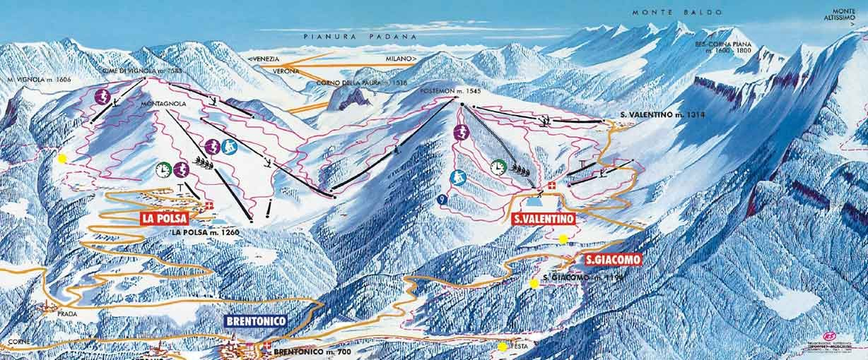 Brentonico Piste / Trail Map