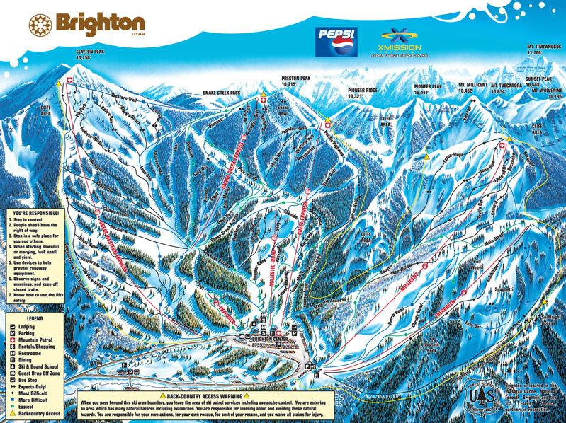 Brighton Resort Piste / Trail Map