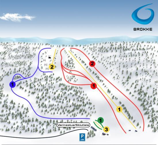 Brokke Piste / Trail Map