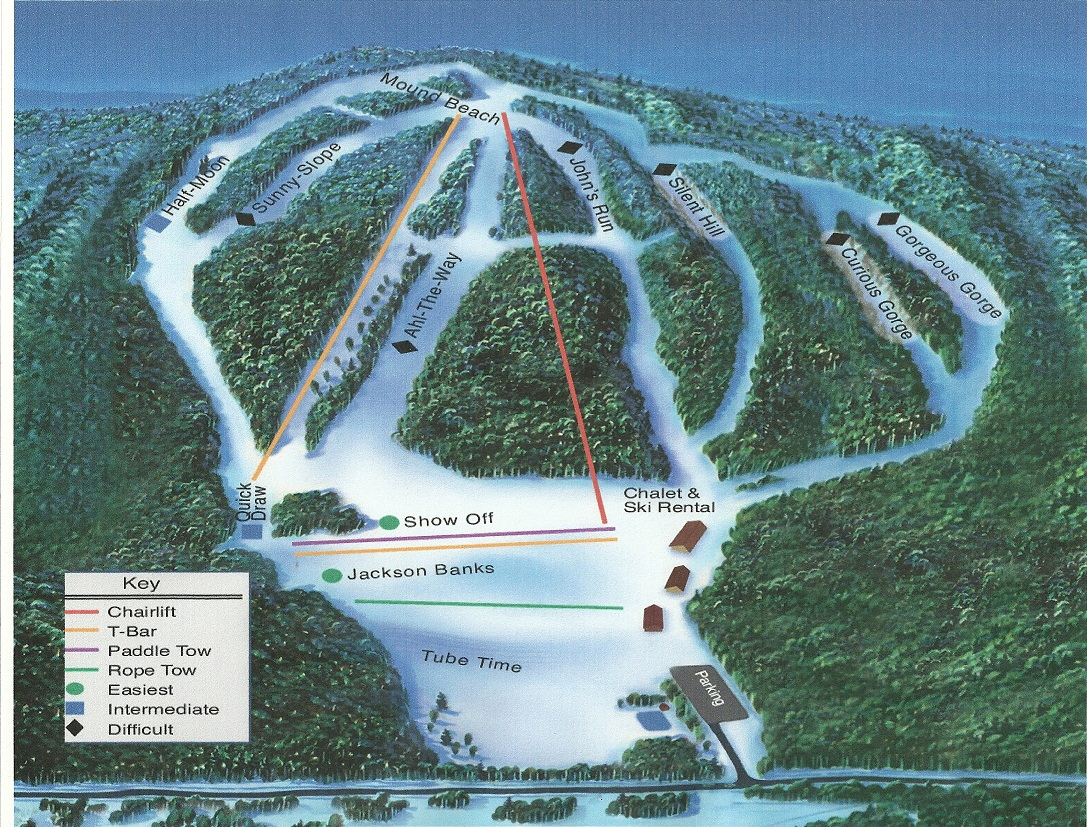Bruce Mound Piste / Trail Map