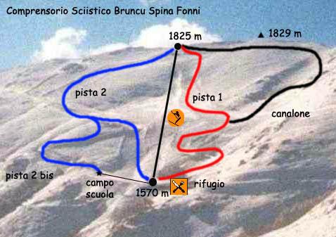 Bruncu Spina Piste / Trail Map