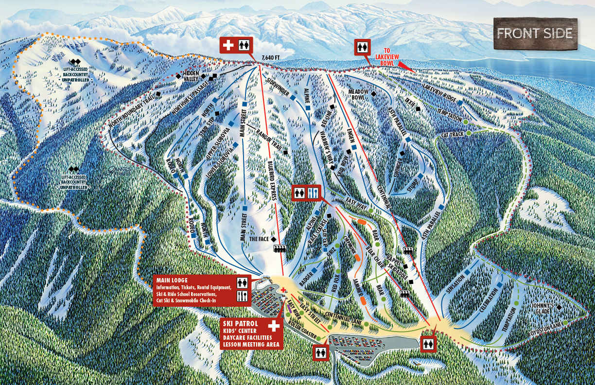 Brundage Mountain Resort Piste / Trail Map