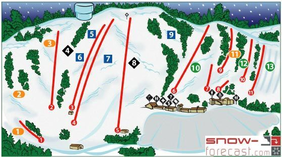 Buck Hill Piste / Trail Map