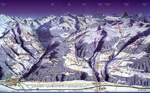 Bürchen - Törbel Piste / Trail Map