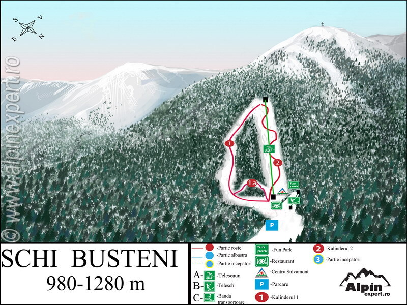 Buşteni Piste / Trail Map