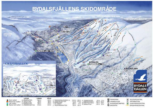 Bydalen Piste / Trail Map