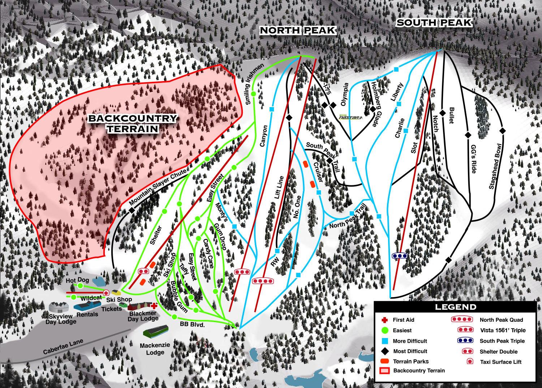 Caberfae Peaks Piste / Trail Map