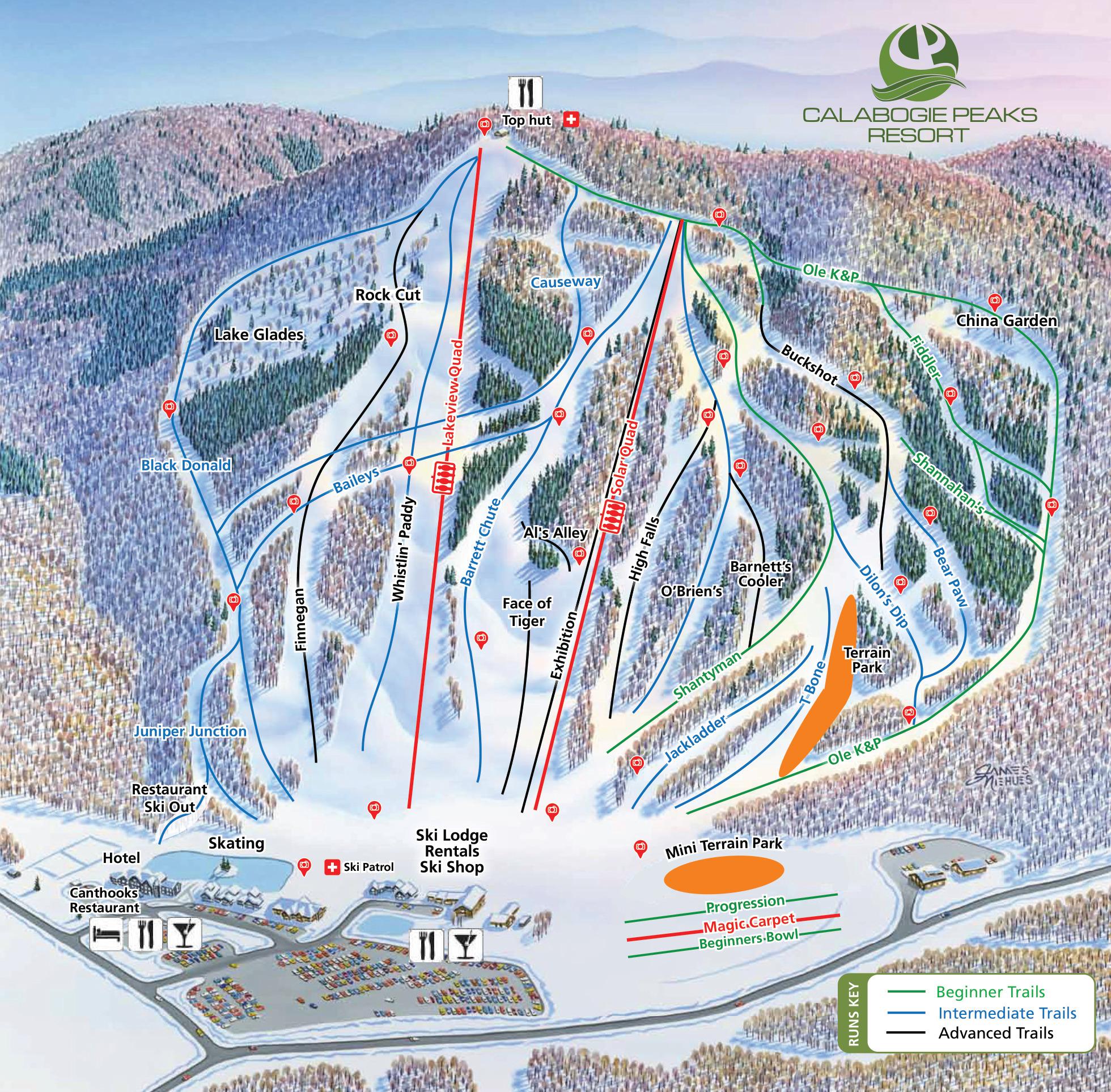 Calabogie Piste / Trail Map