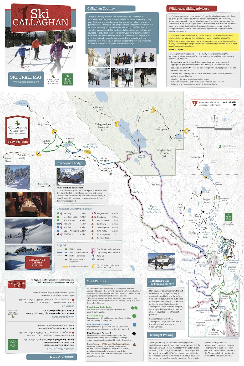 Ski Callaghan Piste / Trail Map