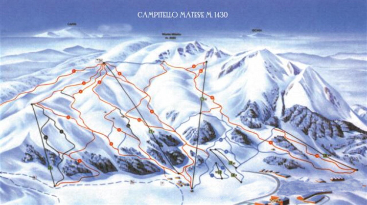 Campitello Matese Piste / Trail Map