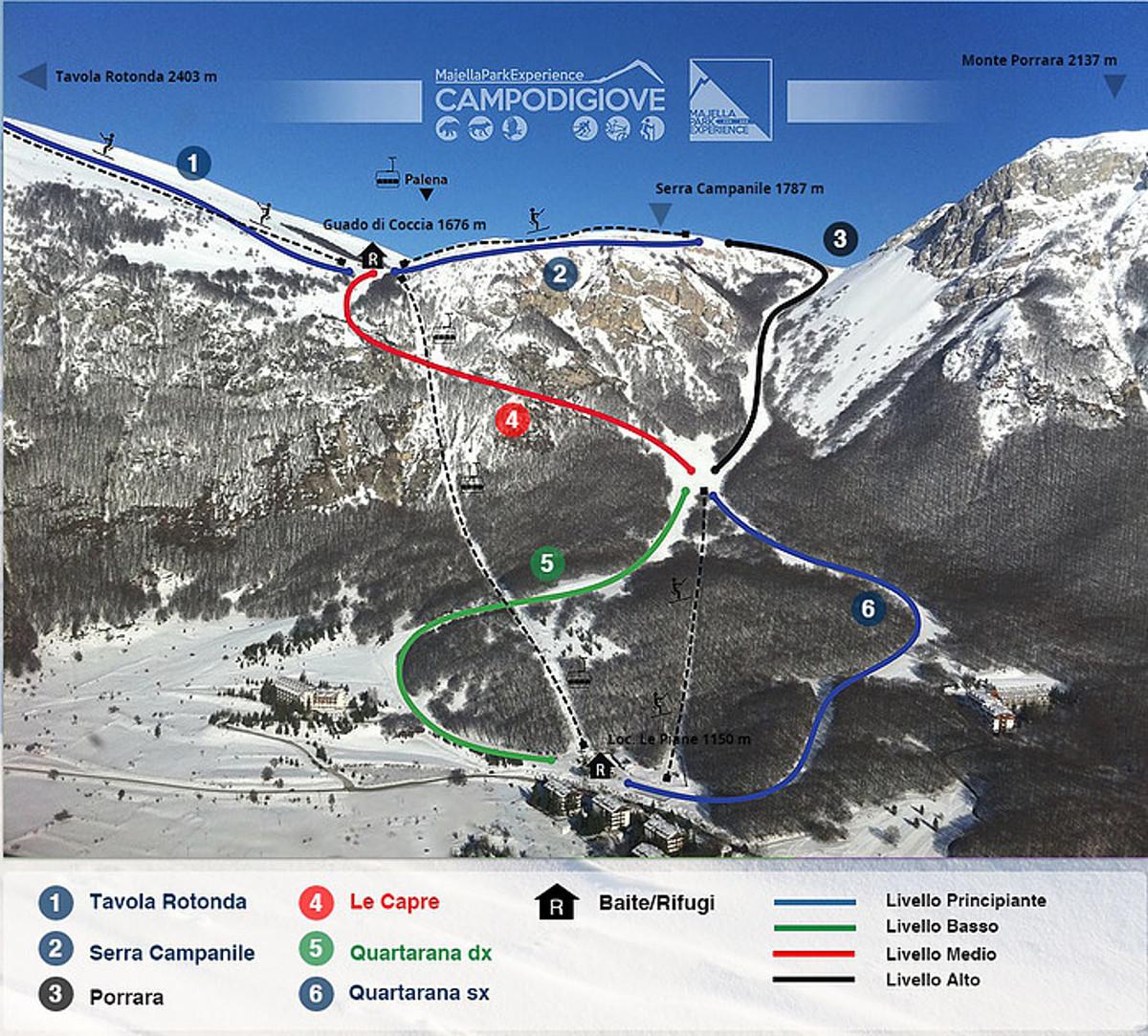 Campo di Giove Piste / Trail Map