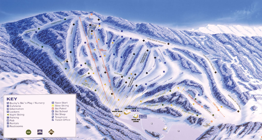 Canaan Valley Resort Piste / Trail Map