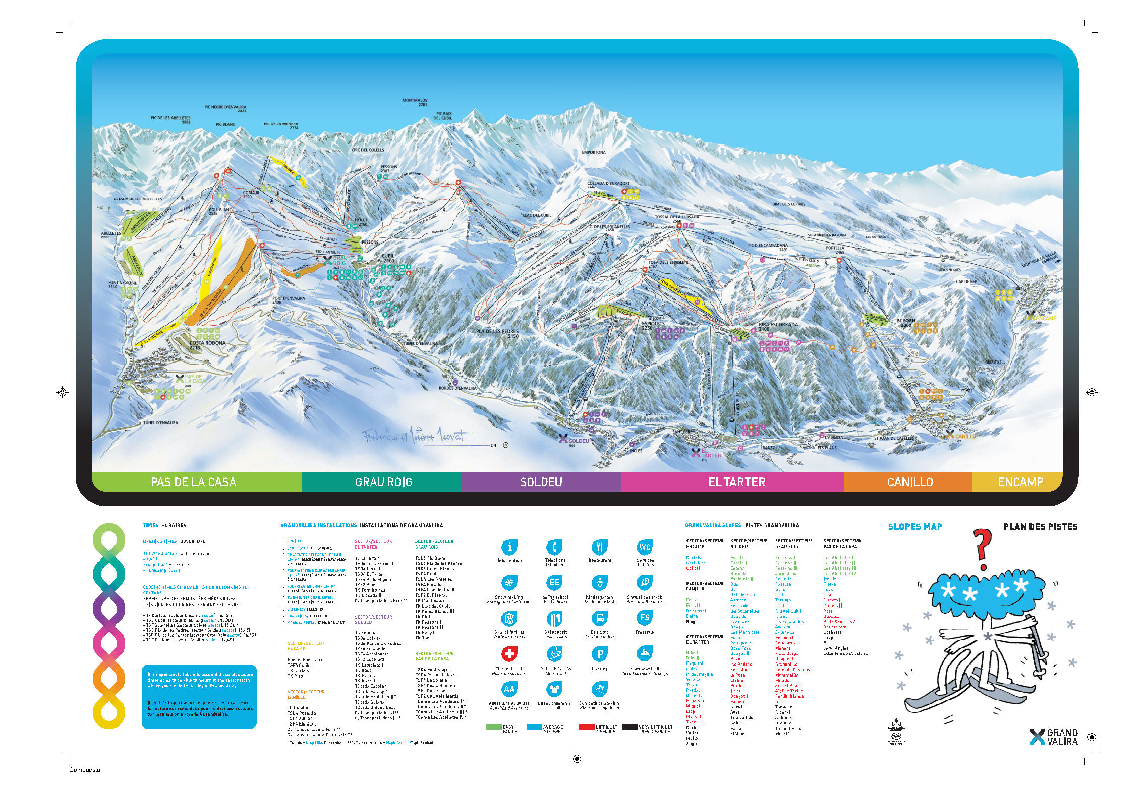 Grandvalira-Canillo Piste / Trail Map